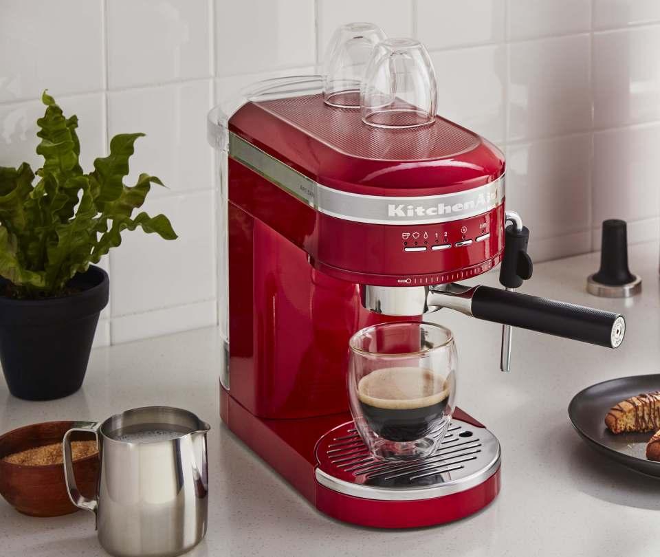 KitchenAid Espressomaschine Artisan mit 2 Temperatursensoren.