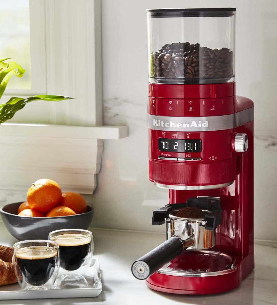 KitchenAid Kaffeemühle Artisan mit 70 Mahlgradeinstellungen.