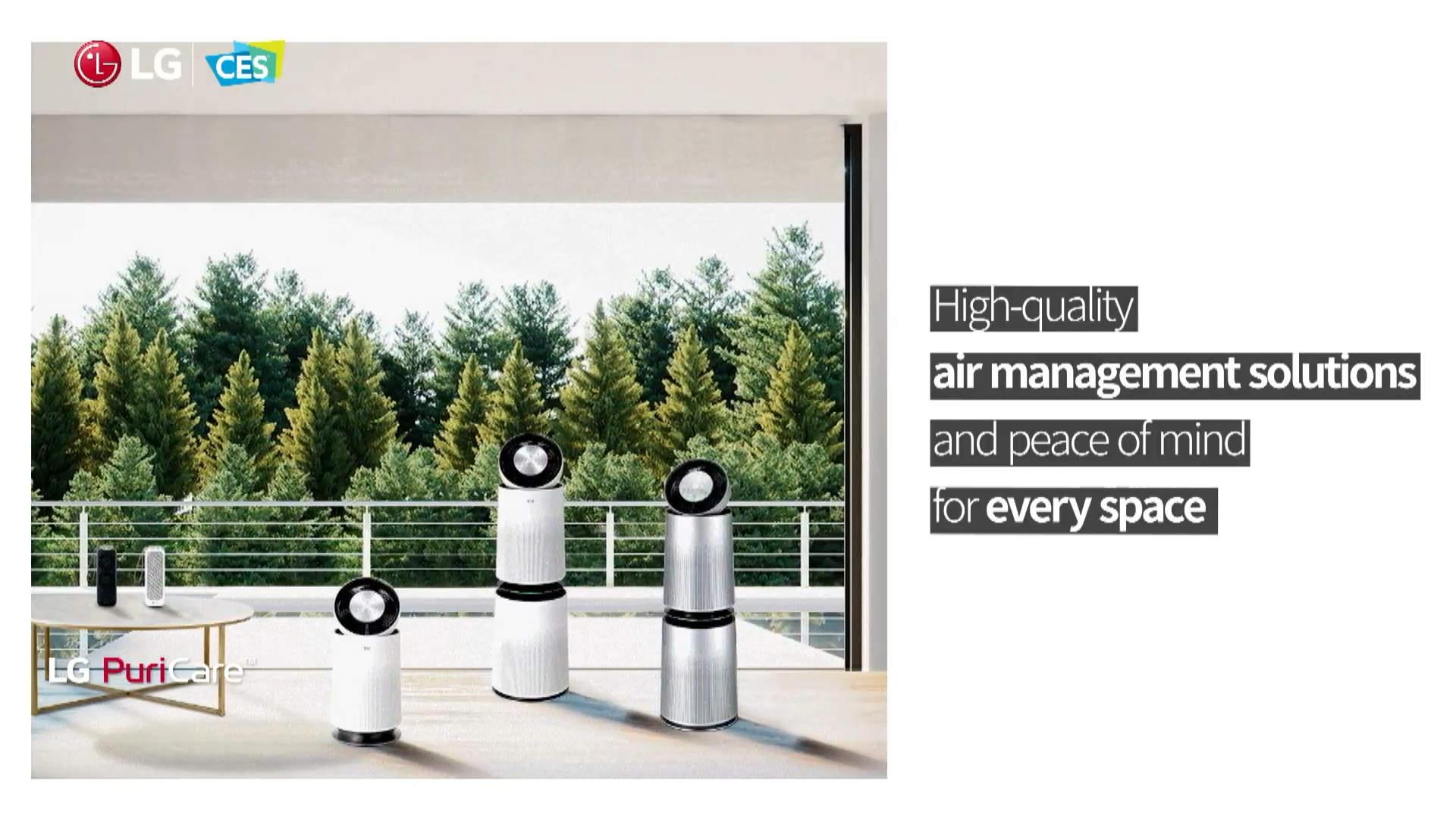 Ein Top-Thema am CES-Montag: Luftreiniger, hier von LG.Luftreiniger LG CES