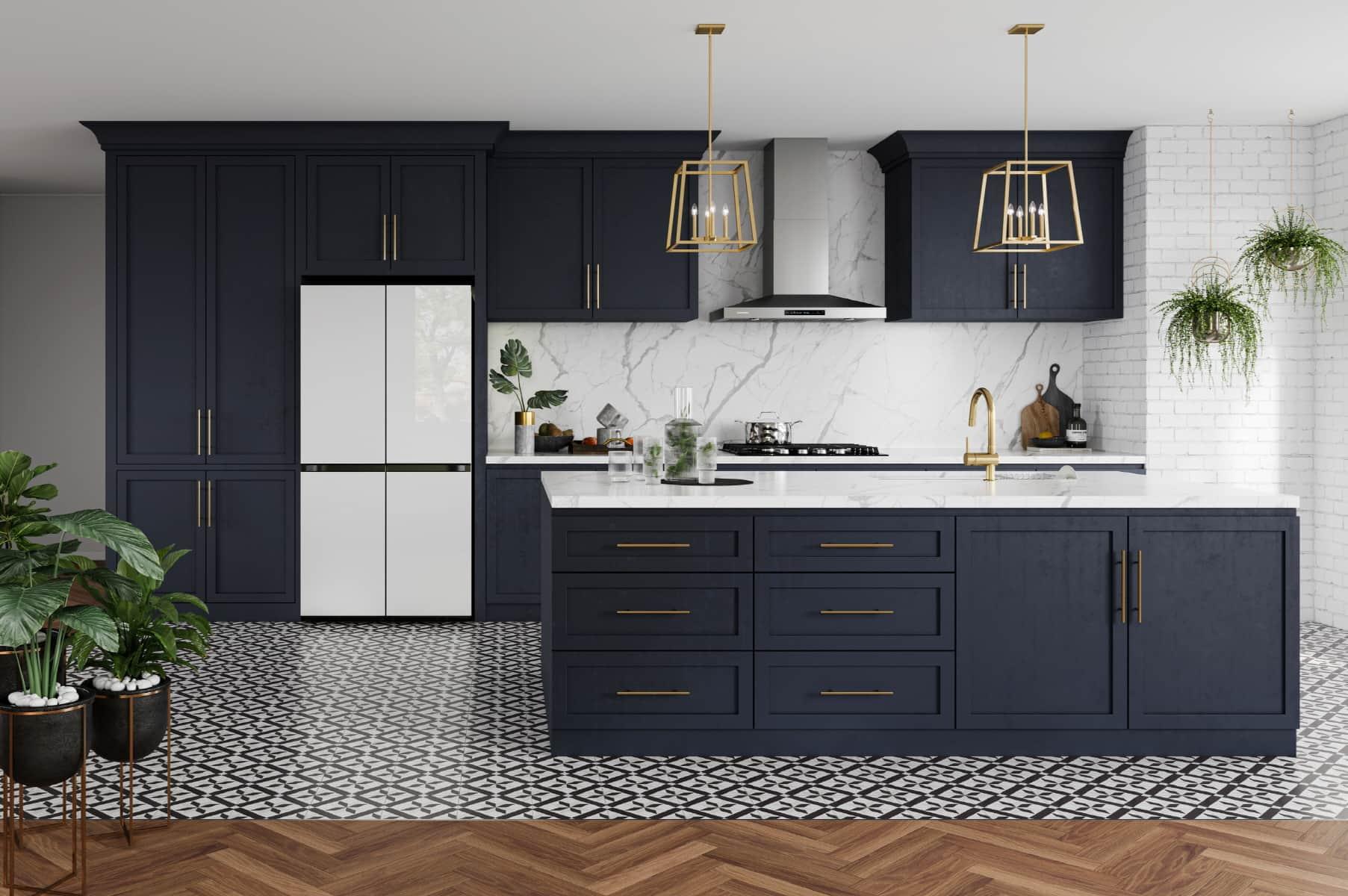Beim Bespoke-Kühlschrank kann der Nutzer zwischen verschiedenen Farben und Materialien wählen und ihn so an seinen Lebens- oder Einrichtungsstil anpassen.