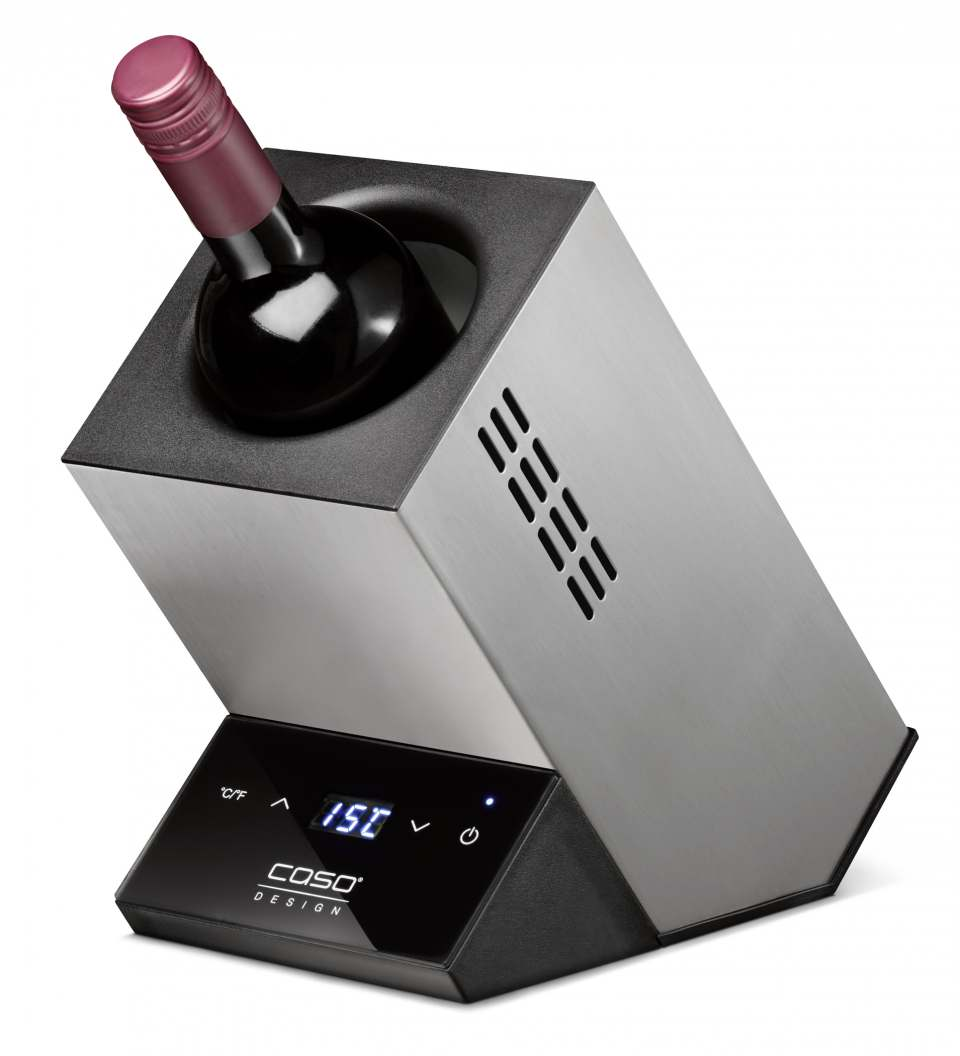 Caso Weinkühler WineCase One mit LED-Temperaturanzeige.