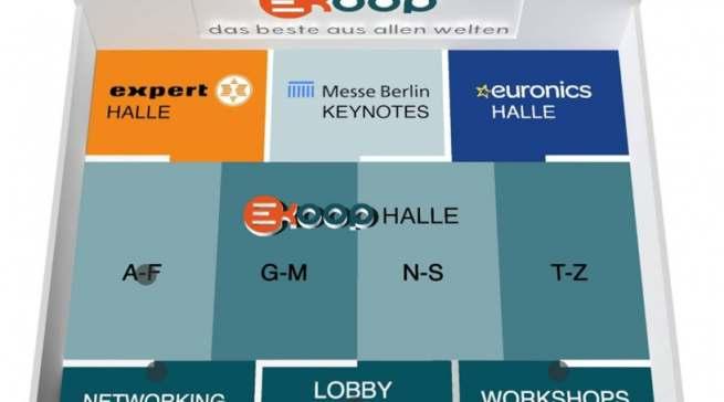 Synergien nutzen, eigene Identität bewahren: Hallenplan der virtuellen KOOP.
