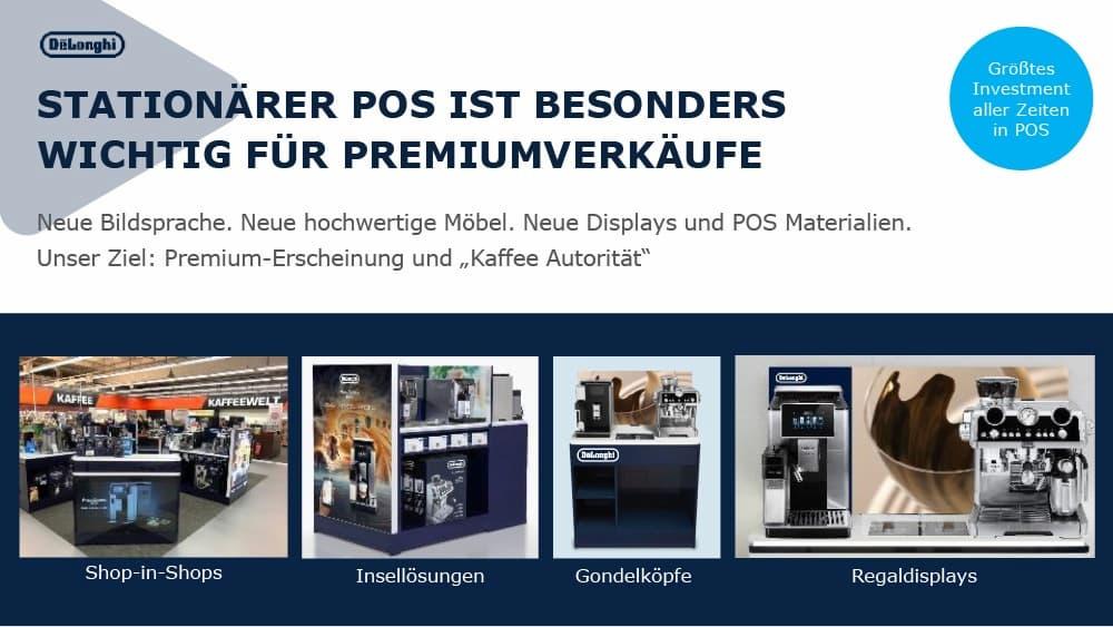 Premium-Anmutung und Kaffee-Autorität: Eine neue Corporate Identity soll am PoS zu einer noch wertigeren Markenauffrischung führen.