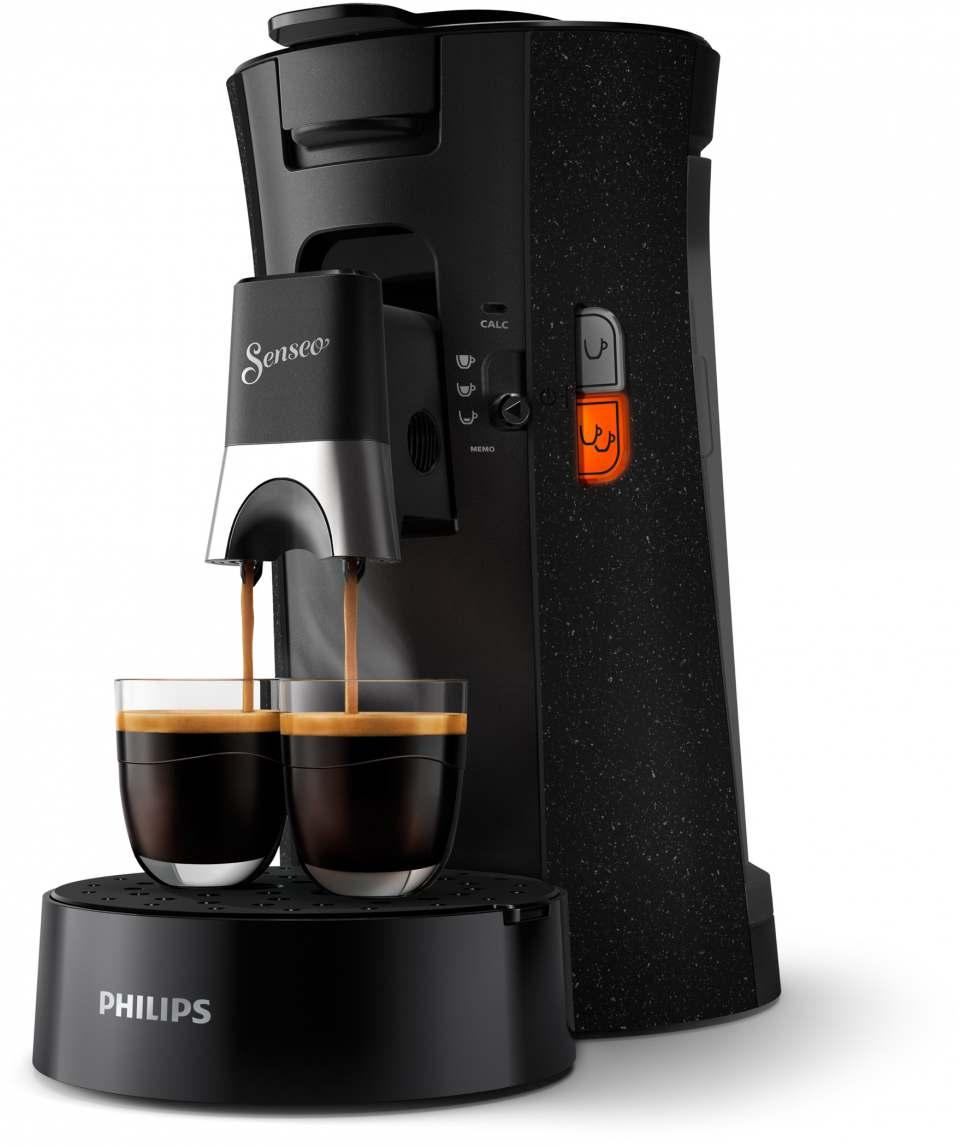 Philips Kaffeemaschine Senseo Select Eco aus 37 % recyceltem Plastik.