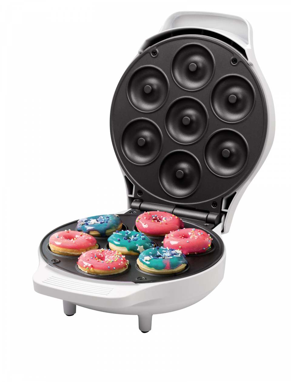 Rosenstein & Söhne Mini-Donut-Maker CM-200 bereitet auch Mini-Bagels.