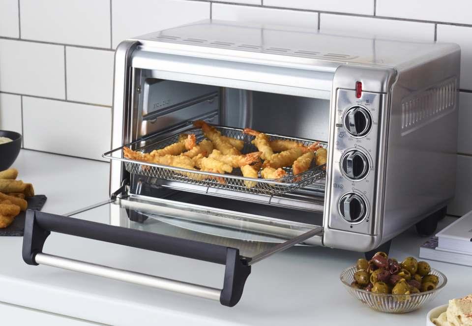 Russell Hobbs Mini Backofen & Heißluftfritteuse Express Airfry mit Stufenregler für Toastfunktion.