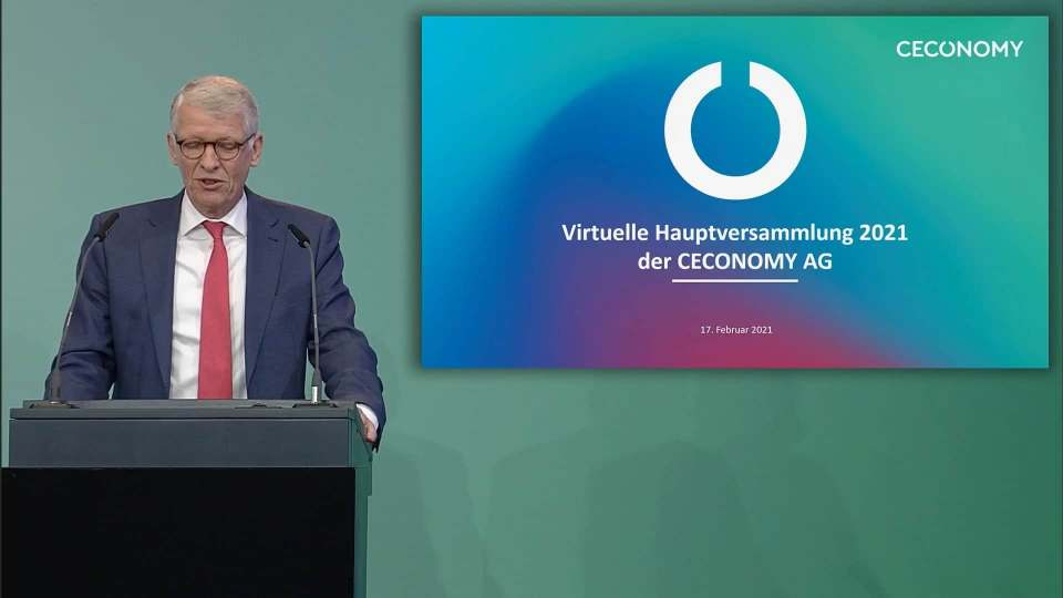 Ceconomy-CEO Dr. Bernhard Düttmann informierte die Aktionäre virtuell wie ausführlich über die aktuelle Lage des Konzerns.