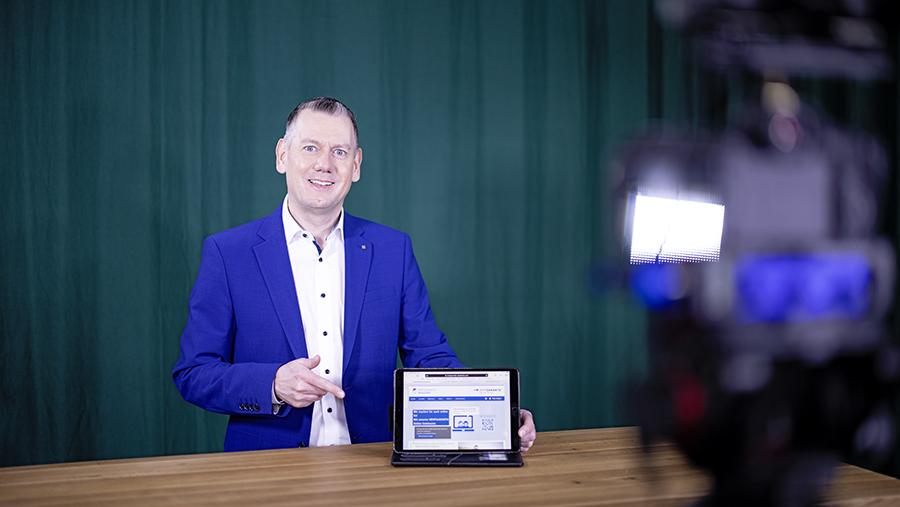 Wertgarantie-Vertriebsleiter Thilo Dröge empfiehlt die Teilnahme an den digitalen Workshops.