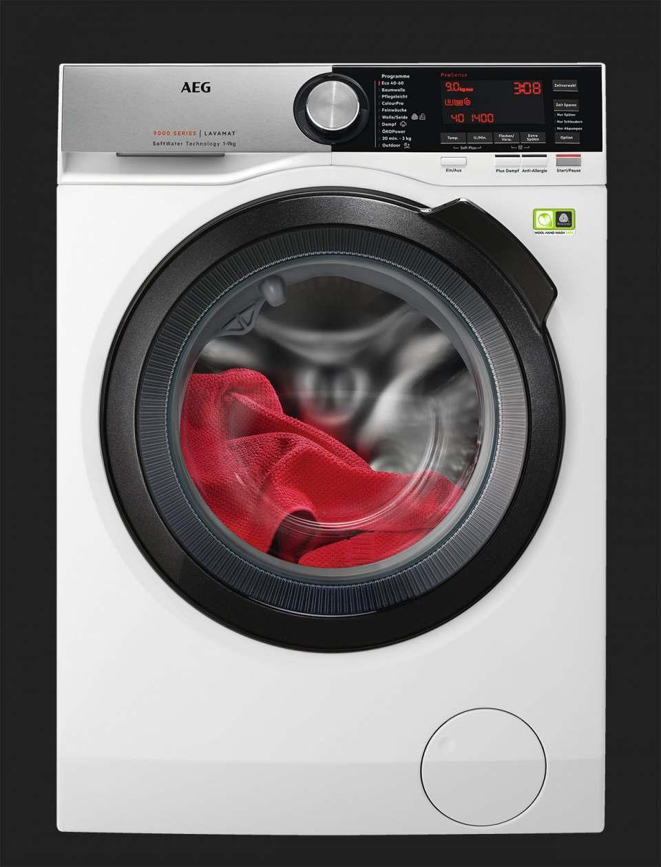 AEG Waschmaschine L9FS86699 mit 9 kg Fassungsvermögen.