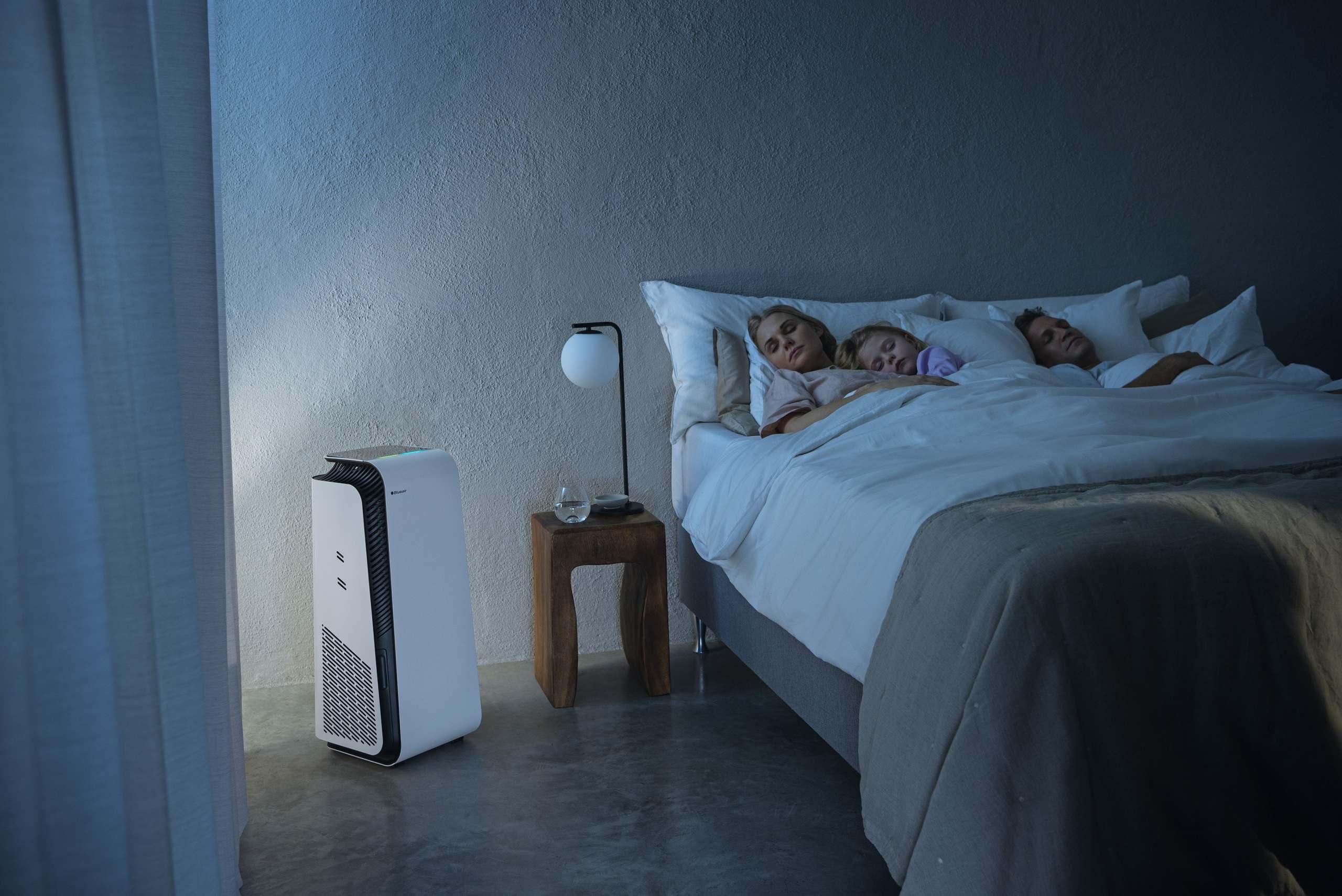 Flüsterleiser Betrieb ermöglicht auch die Aufstellung im Schlafzimmer.