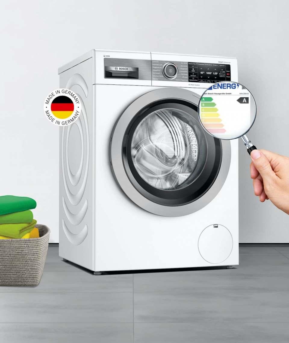 Zum Start des neuen EU-Energielabels: Bosch führt eine Home Professional Waschmaschine der Energieeffizienzklasse A ein.