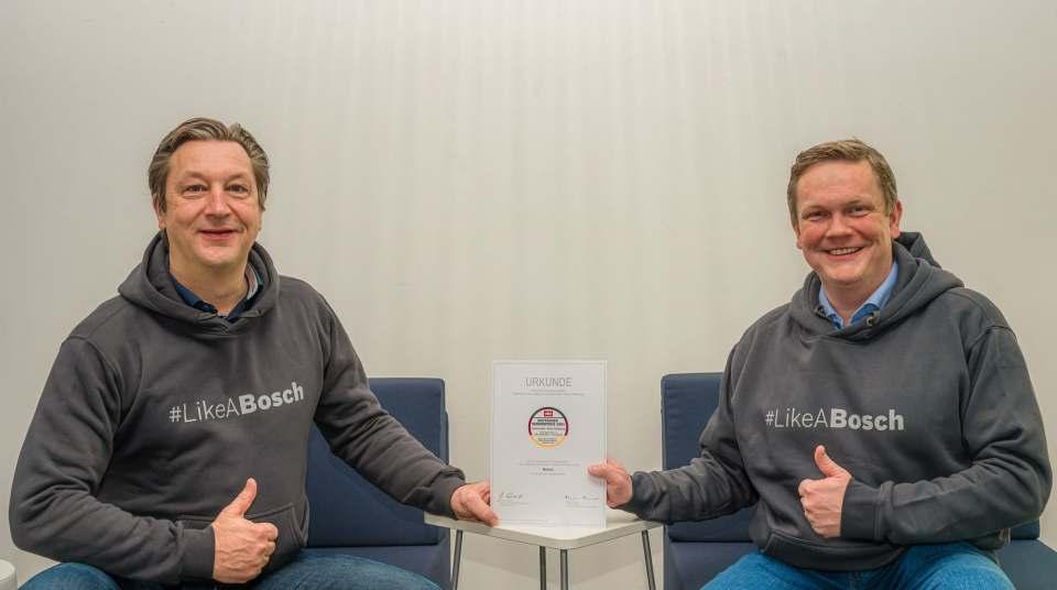 Freuen sich über den Deutschen Servicepreis 2021: Geschäftsführer Harald Friedrich (l.) und Andreas Döge, Leiter Kundendienst Deutschland.