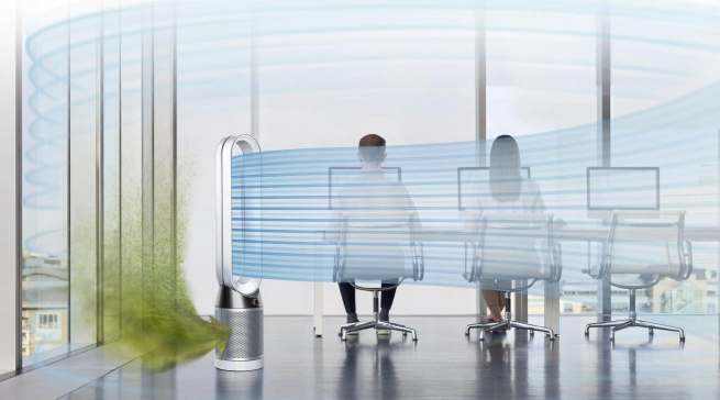 Im bekannten Design und mit der bewährten Technik bietet Dyson mit der Pure-Serie auch Luftreiniger an.