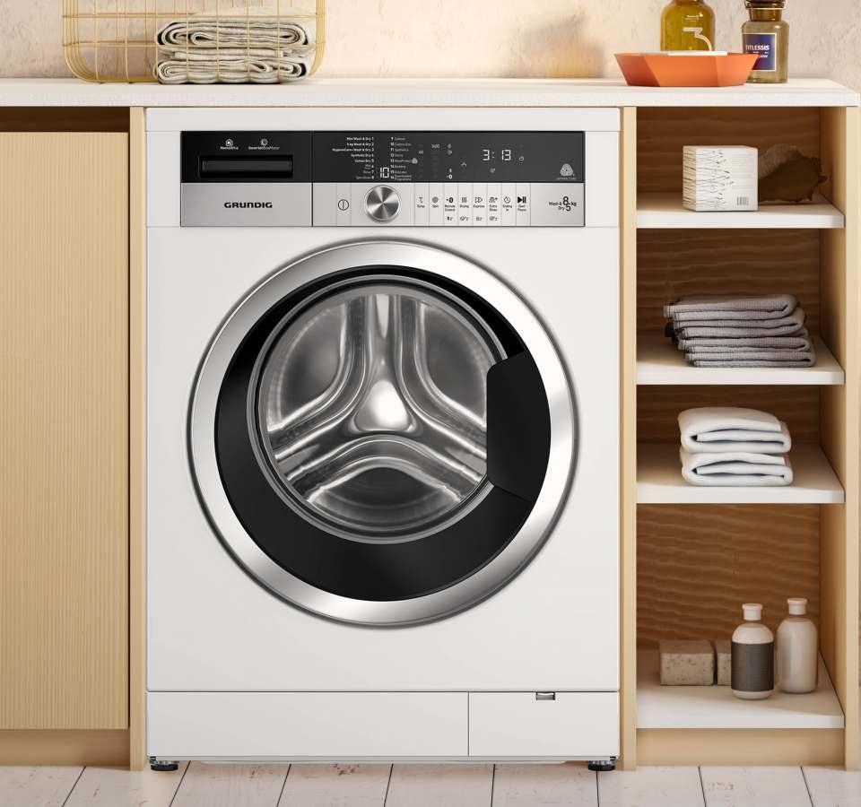Grundig Waschtrockner Edition 75 mit 5 App Programmen.