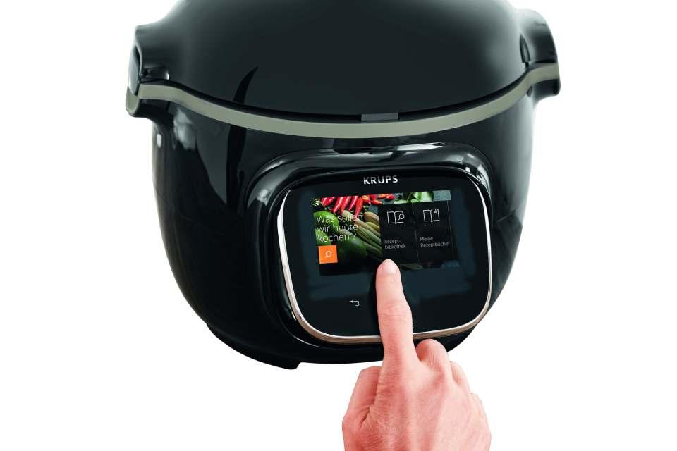 Krups Multikocher Cook4Me Touch Wifi mit 13 Kochfunktionen.