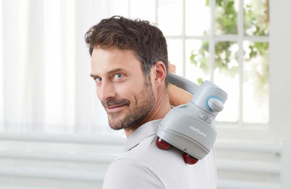 Medisana Handmassagegerät HM 900 mit 4 Massageköpfen.