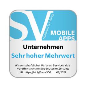 Von ServiceValue und der Süddeutschen Zeitung ermittelt: Mobile Apps mit Mehrwert