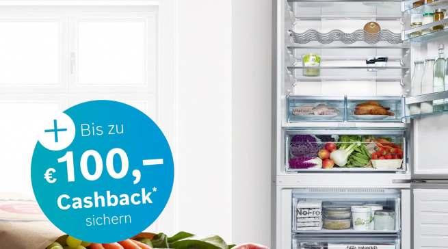 Gutscheine und Cashback für Herdsets und Kühl-/Gefrierkombinationen von Bosch.