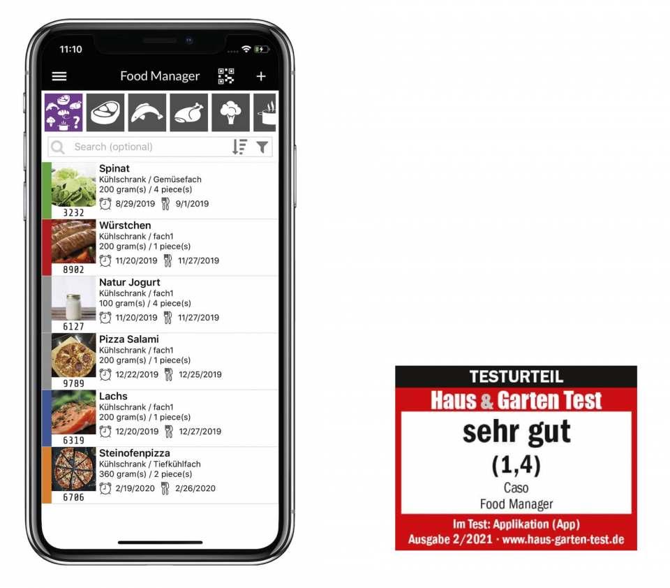 Weniger Lebensmittel verschwenden mit der Caso FoodManager App.