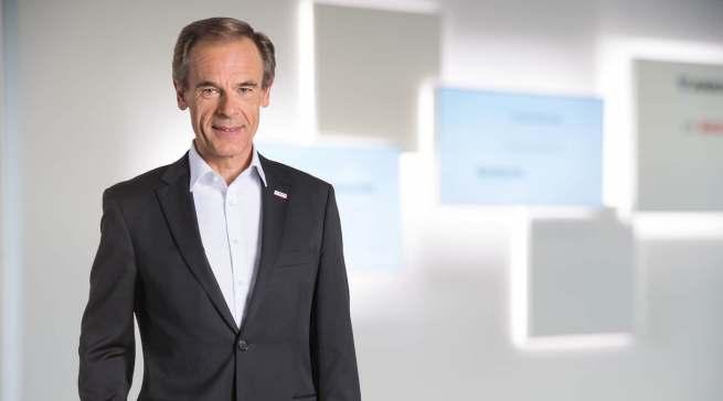 """""""Die sehr positive Entwicklung im Bereich Consumer Goods ist ebenso der Verdienst von Uwe Raschke wie der starke Ausbau des Geschäfts in den von ihm verantworteten Regionen"""", Dr. Volkmar Denner, Vorsitzender der Bosch-Geschäftsführung."""