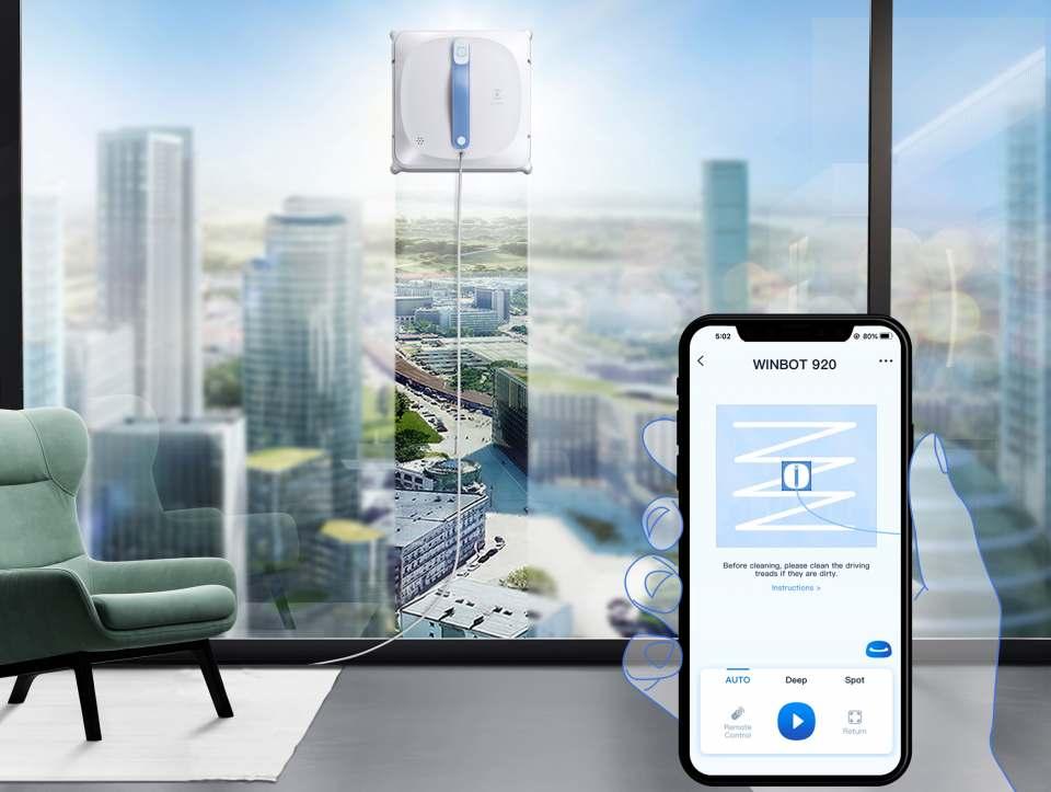Ecovacs Fensterputz-Roboter Winbot 920 mit App-Steuerung.