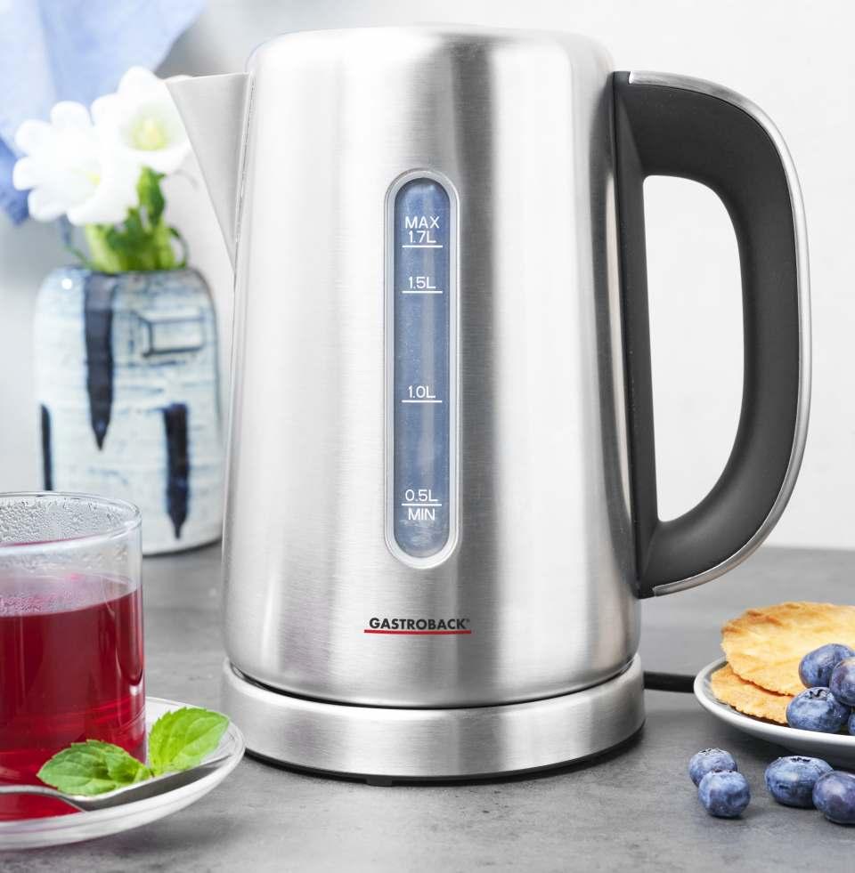Gastroback Wasserkocher Design Express mit 10 Temperaturstufen.