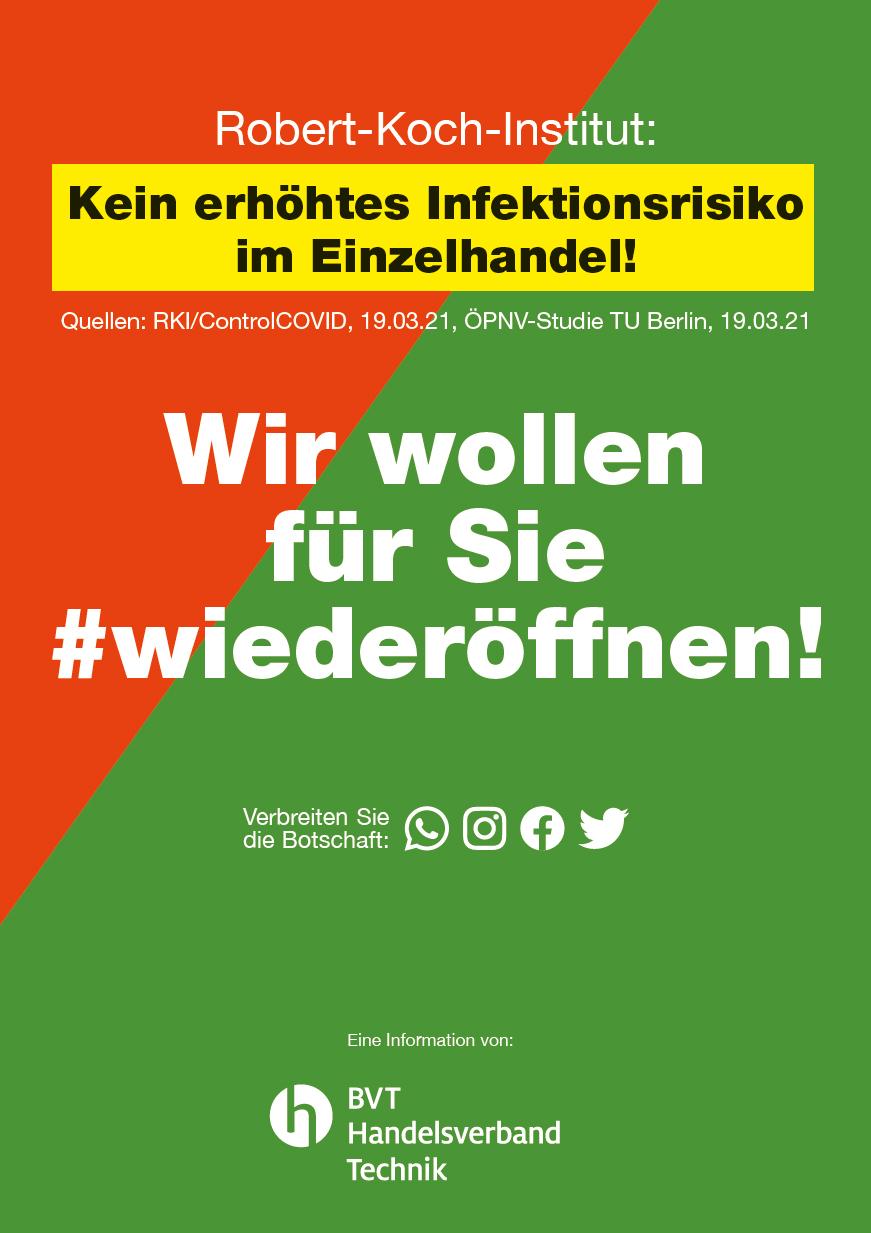 Wir wollen für Sie #wiederöffnen!