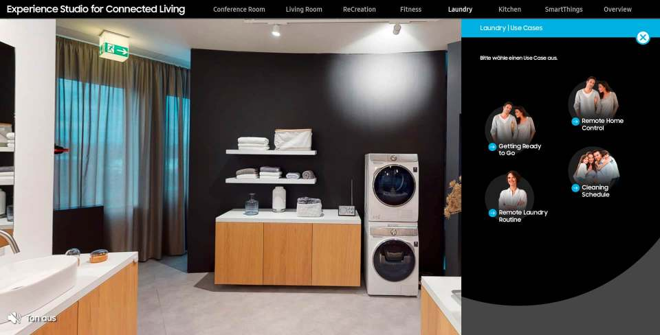 Voll digital: Experience Studio for Connected Living von Samsung.