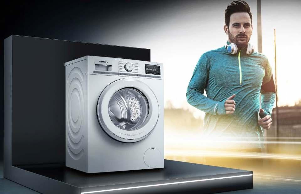 Im Doppelback: Siemens Waschmaschine plus adidas-Geschenkgutschein.