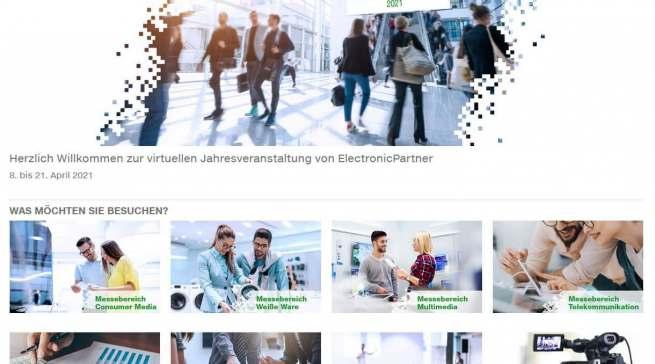Übersichtlich und mit verschiedenen Formaten bot das ElectronicPartner Infonet den Besuchern einen intuitiven Messebesuch.