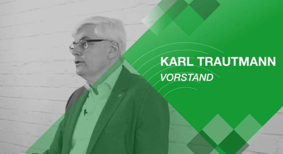 Wie auch sein Vorstandskollege Friedrich Sobol wandte sich Karl Trautmann im Rahmen der virtuellen Messe per Podcast an die Mitglieder der Verbundgruppe.