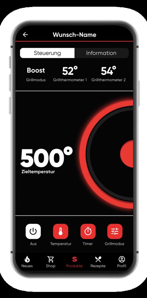 Scharfes Angrillen: Der SEVO Smart Control schafft 500 °C direkt am Grillgut in nur zehn Minuten.
