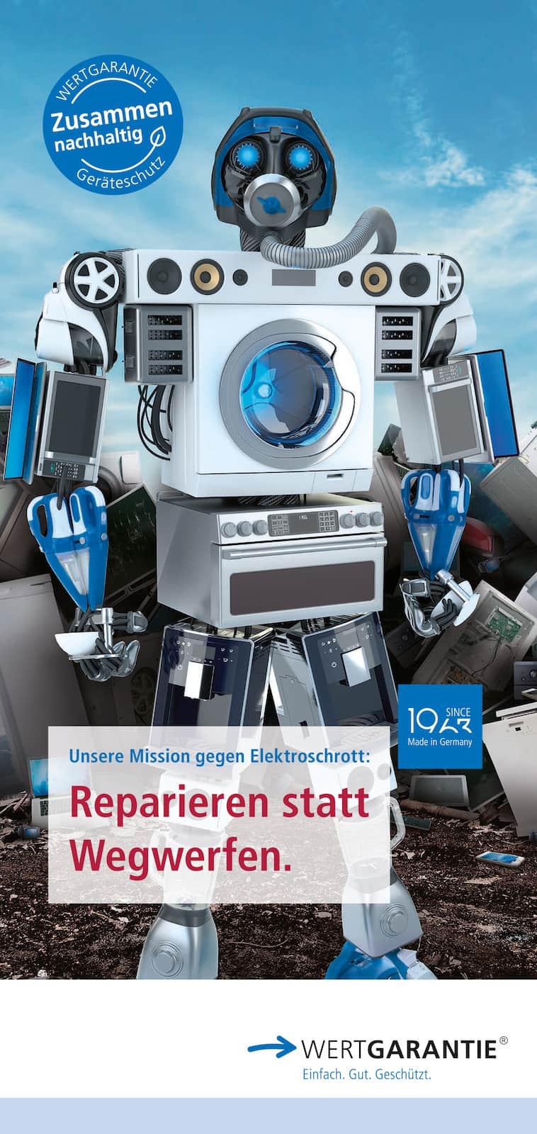 Der Flyer zur Wertgarantie-Kampagne.