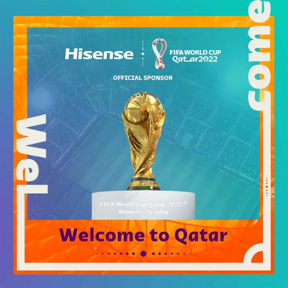 In Katar am Ball: Hisense sponsert die Fußball-Weltmeisterschaft.