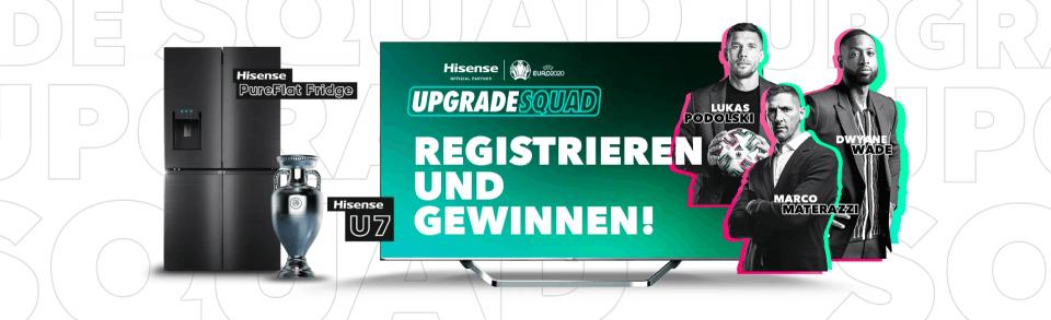 UEFA EURO 2020: Hisense startet #UpgradeYourHome-Kampagne mit Gewinnspiel.