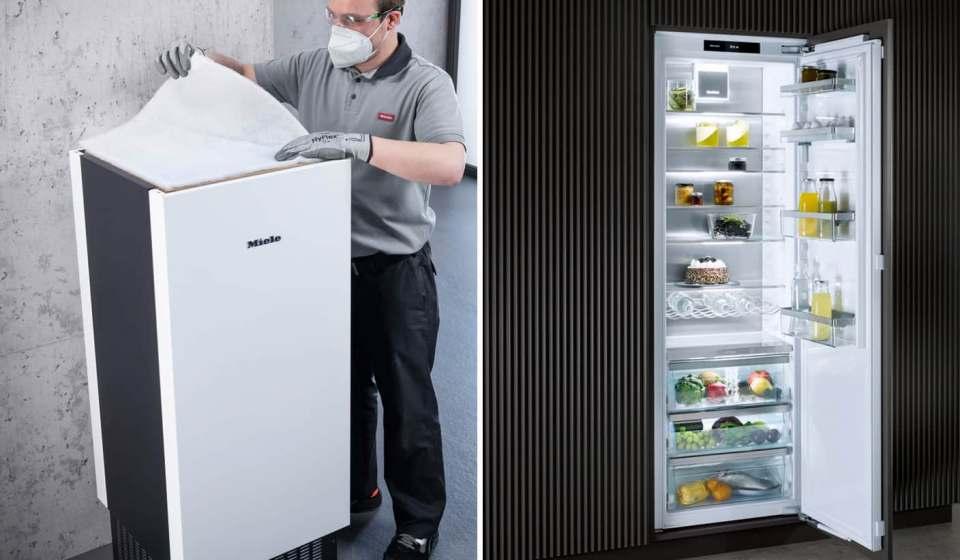 Miele ganz ausgezeichnet: der Red Dot Award für den Luftreiniger AirControl, der iF Design Award für die neue Kühlgeräte Generation K 7000.