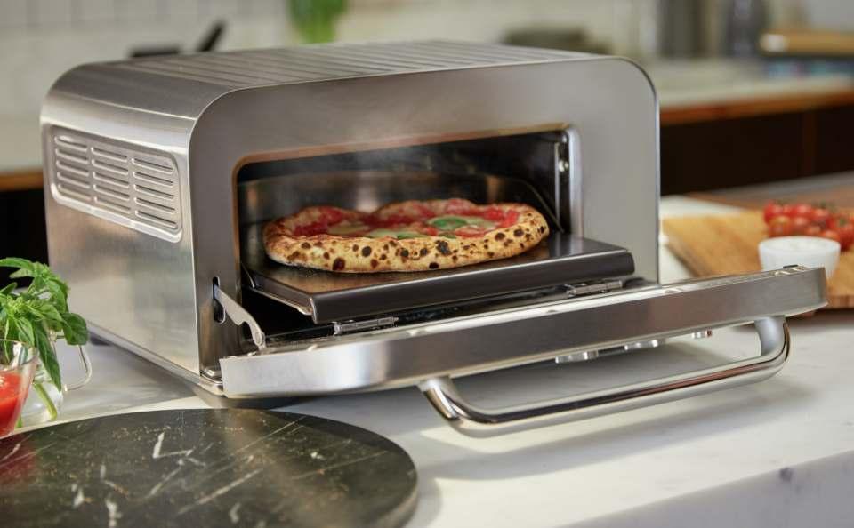 Sage Ofen Smart Oven Pizzaiolo mit 7 Automatikprogrammen.