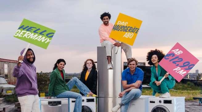 """""""Nutzen statt besitzen"""" Das Start-up """"BlueMovement powered by Bosch"""" hat jetzt auch in Deutschland ein Hausgeräte-Abo für ein nachhaltigeres Zuhause initiiert."""