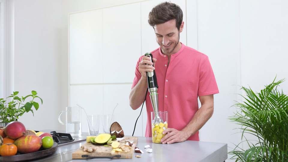 Hauptdarsteller in der Küche: Brauns Stabmixer MultiQuick9.