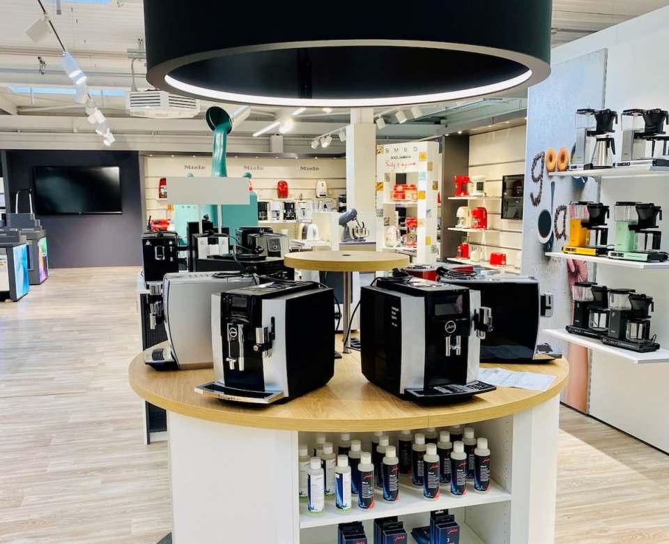 Die Premium-Kaffee-Präsentation auf der Musterfläche der EK/servicegroup in Bielefeld. Fotos: EK/servicegroup