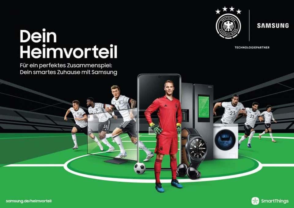 Die Stars der deutschen Nationalmannschaft geben der Kampagne von Samsung und dem DFB in Form von Key Visuals, Werbebannern und anderen Formaten ein Gesicht.