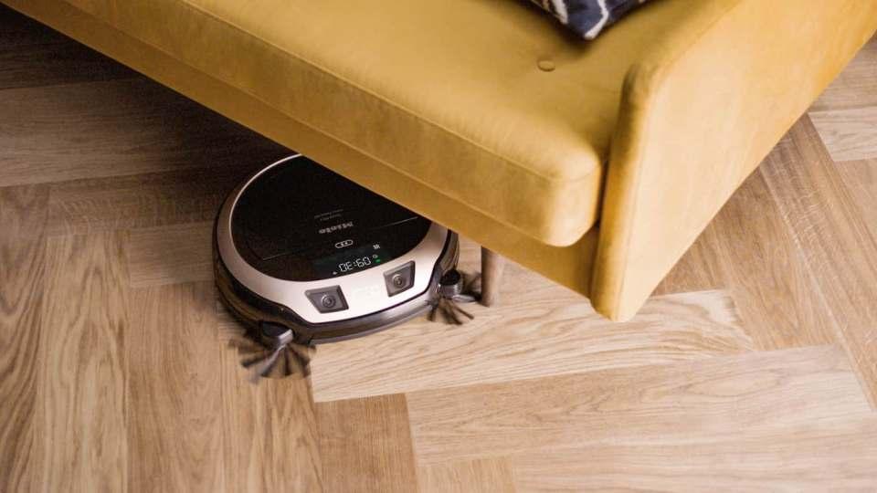 Mit einer HD-Kamera sendet das Spitzenmodell der Miele Saugroboter gestochen scharfe Live-Bilder aufs Smartphone.