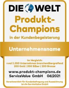 Begeistern ihre Kundschaft: Samsung, MediaMark und Miele sind Produkt-Champions.
