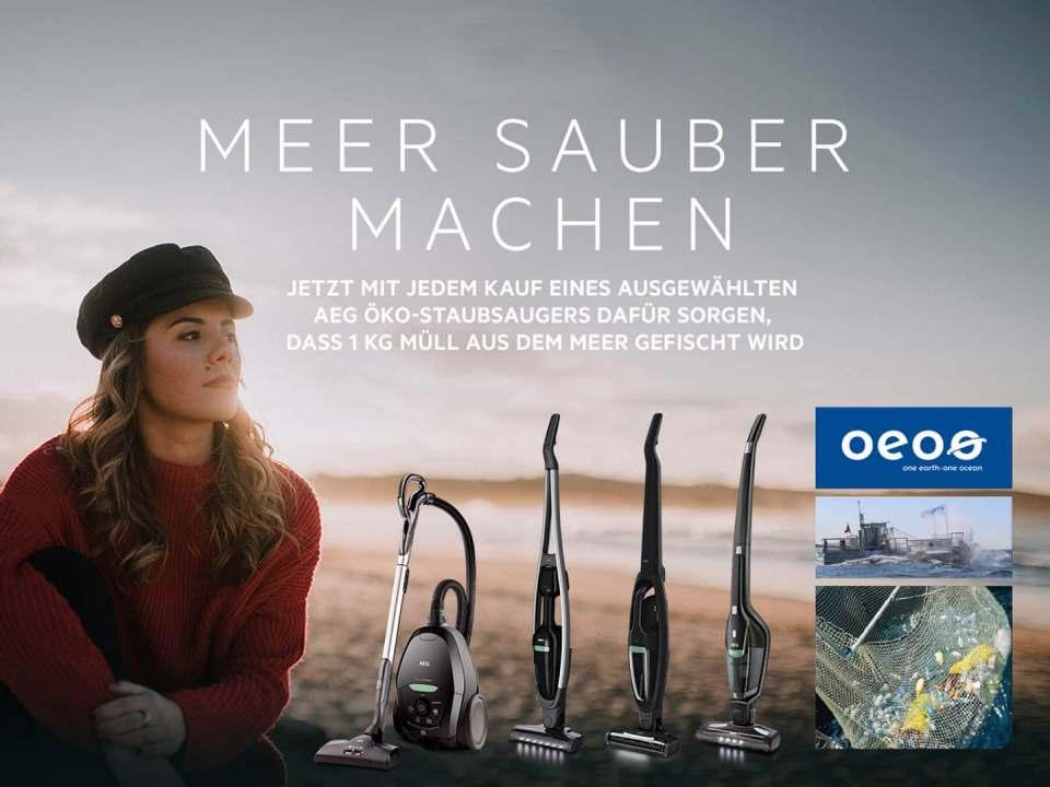 Weiter aktiv für saubere Meere: AEG mit und One Earth – One Ocean.
