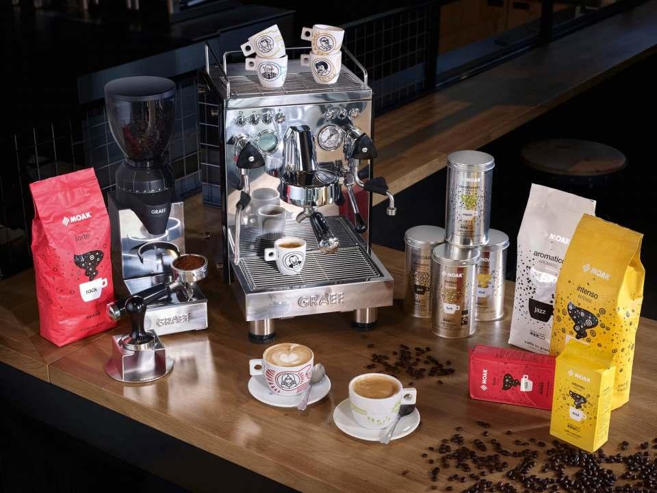 Die beiden Familienunternehmen Graef und Caffè Moak bringen gemeinsam italienischen Kaffeegenuss in die deutschen Haushalte.