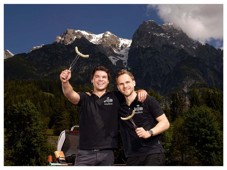 Lecker geht auch gesund: die Grillido-Gründer Manuel Stöffler und Michael Ziegler. Alle Fotos: Grillido
