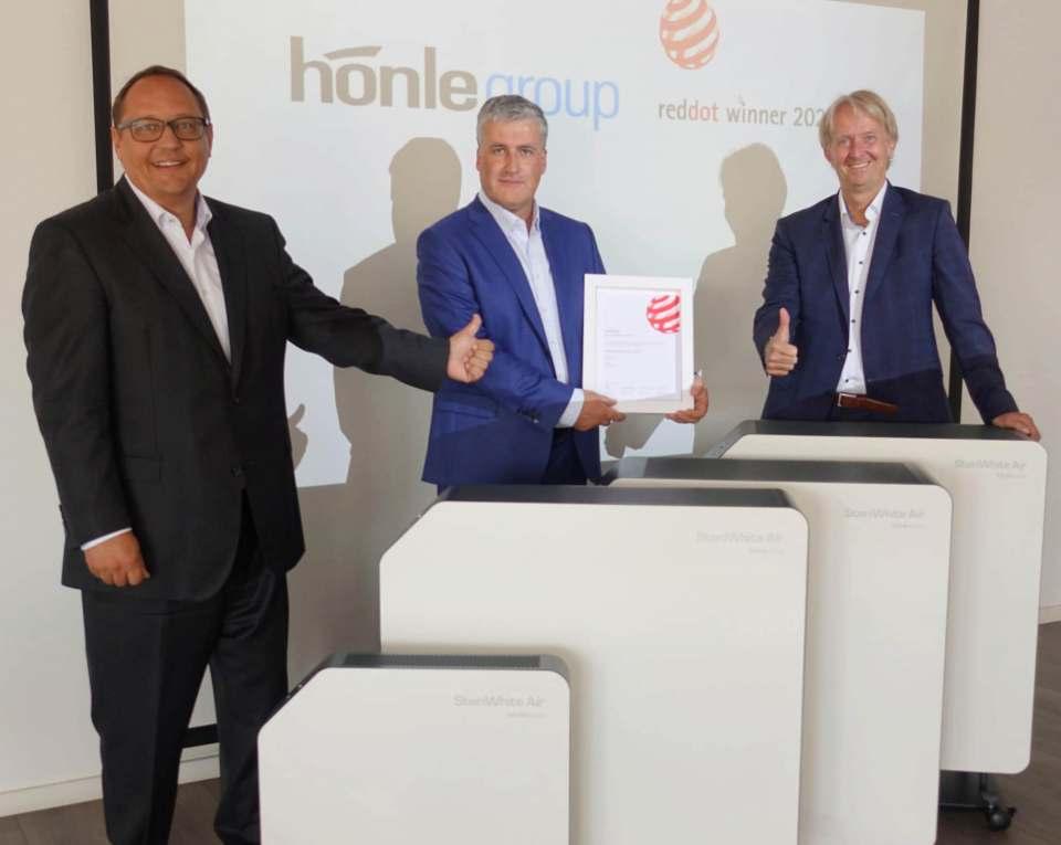 Red Dot Award für den Luftentkeimer SteriWhite Air Q115 der Dr. Hönle AG.