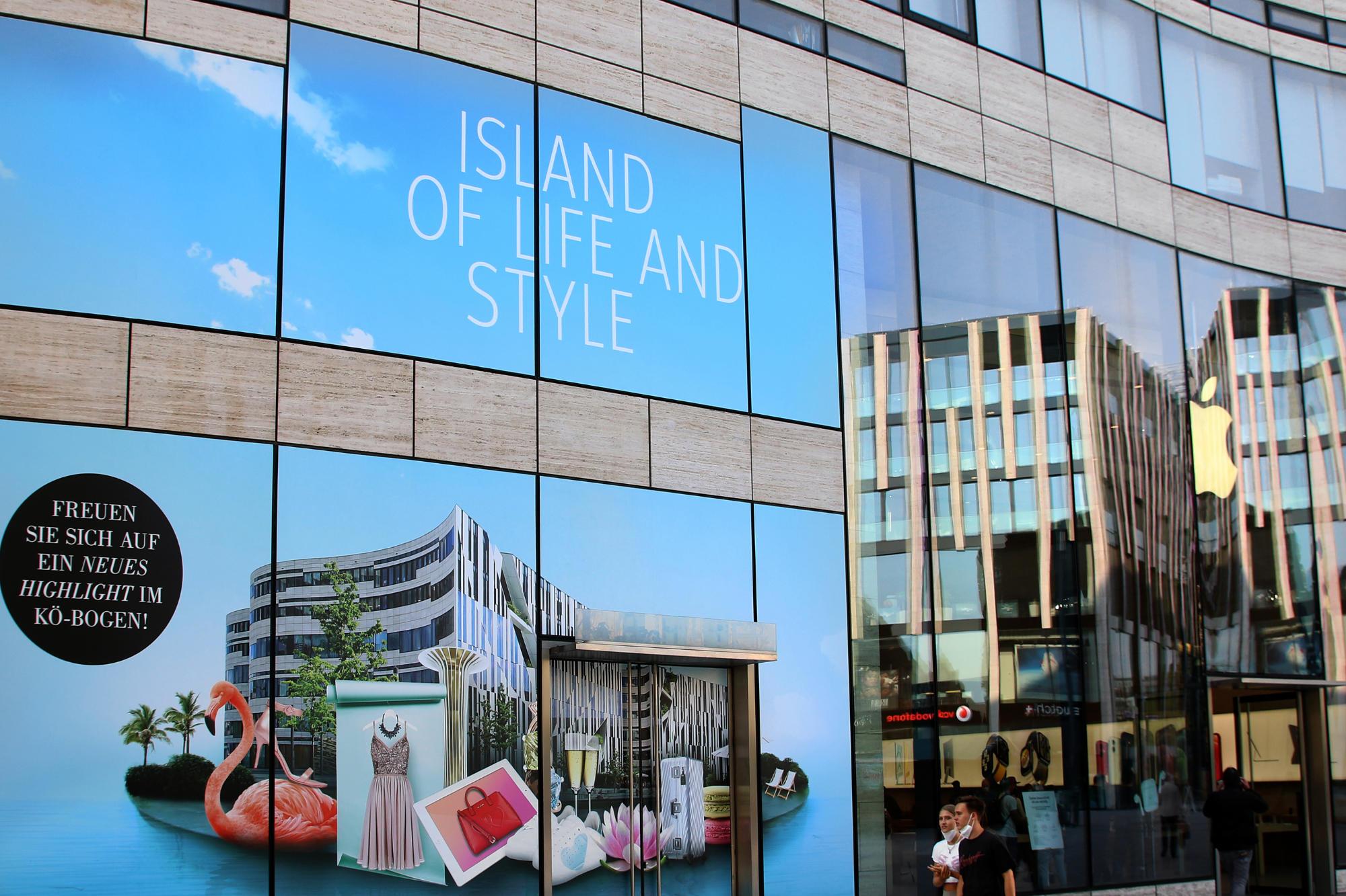 Neuer Anziehungspunkt in der Shopping-Metropole Düsseldorf: der Kö-Bogen.