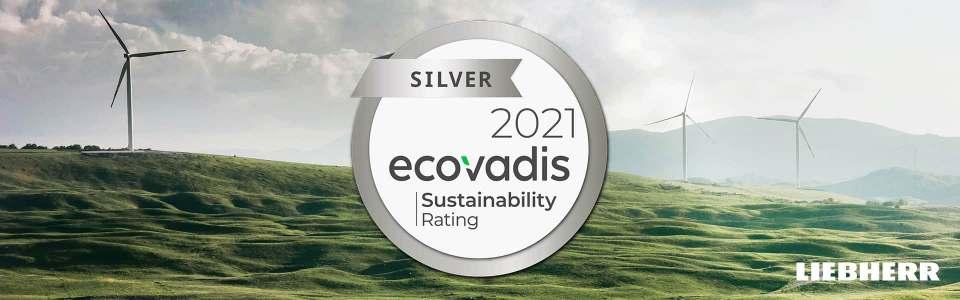 Erneute Auszeichnung von EcoVadis für Liebherr.