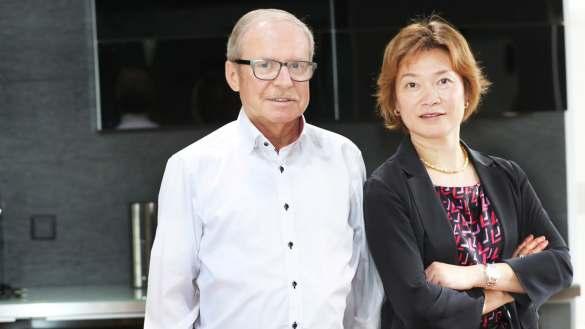 Die Geschäfte entwickeln sich gut für Miji: Walter Michel und Can Yue Maeck, Geschäftsführende Gesellschafter der Miji GmbH.